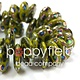 Czech Top-Hole Lentils, 12 mm, Avocado Peacock, 50 pcs