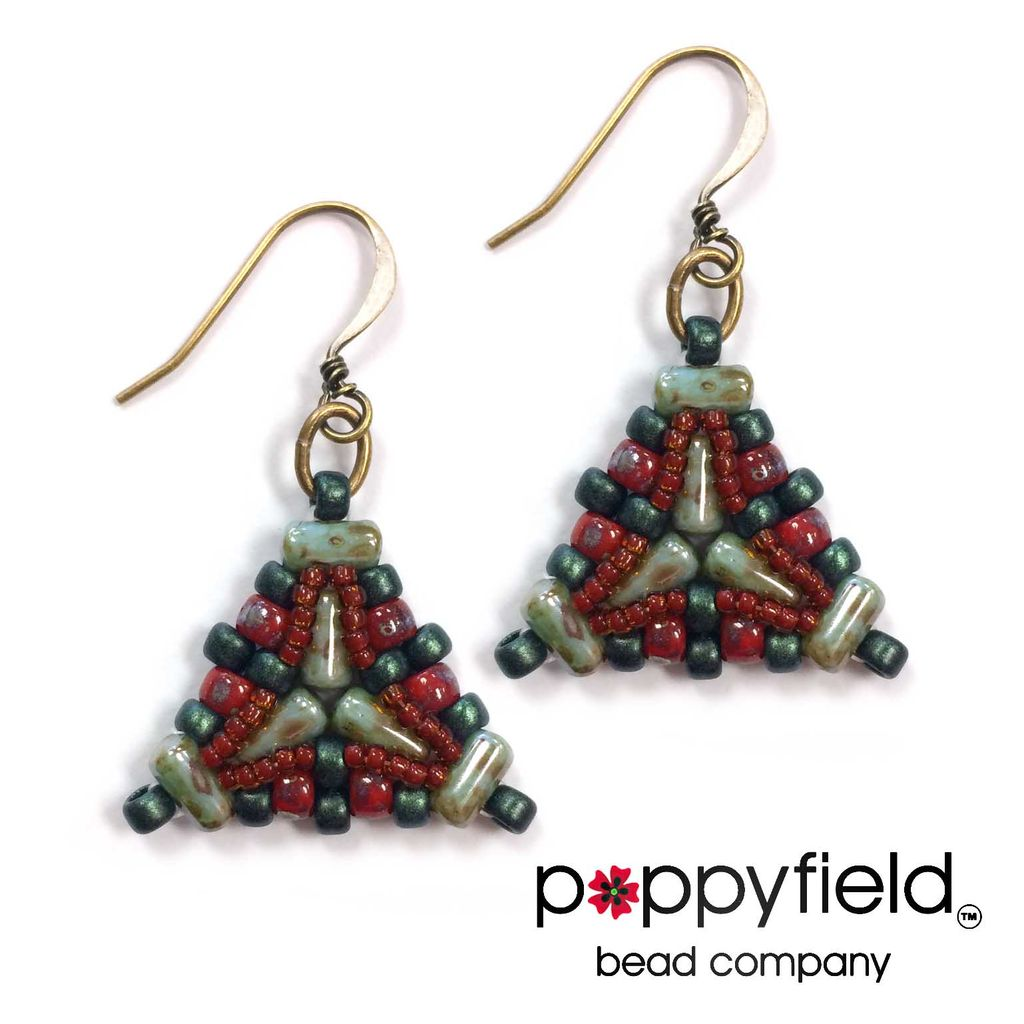 Local Ada Earrings by Nela Kábelová, Bead Bundle & PDF Tutorial