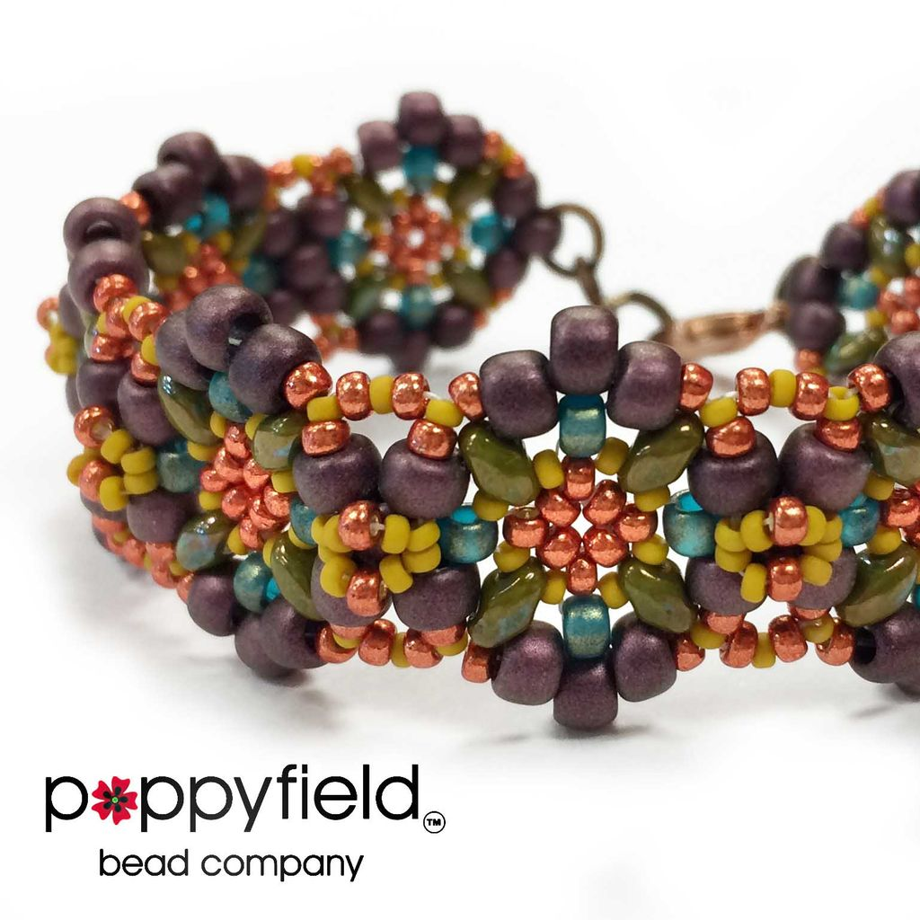 Local Alpina Bracelet by Nela Kábelová, Bead Bundle & PDF Tutorial
