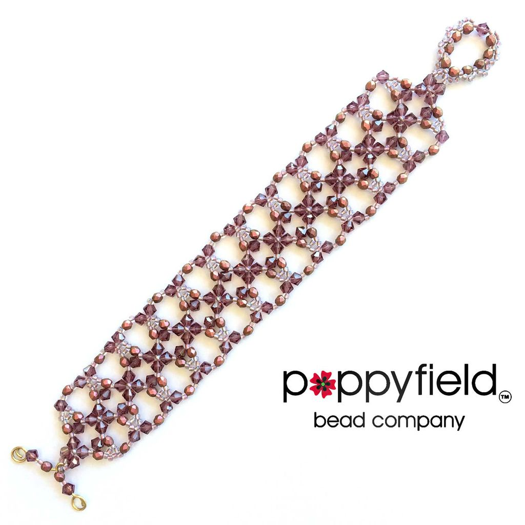Local Candlelight Cuff by Deborah Roberti, Bead Bundle & PDF Tutorial