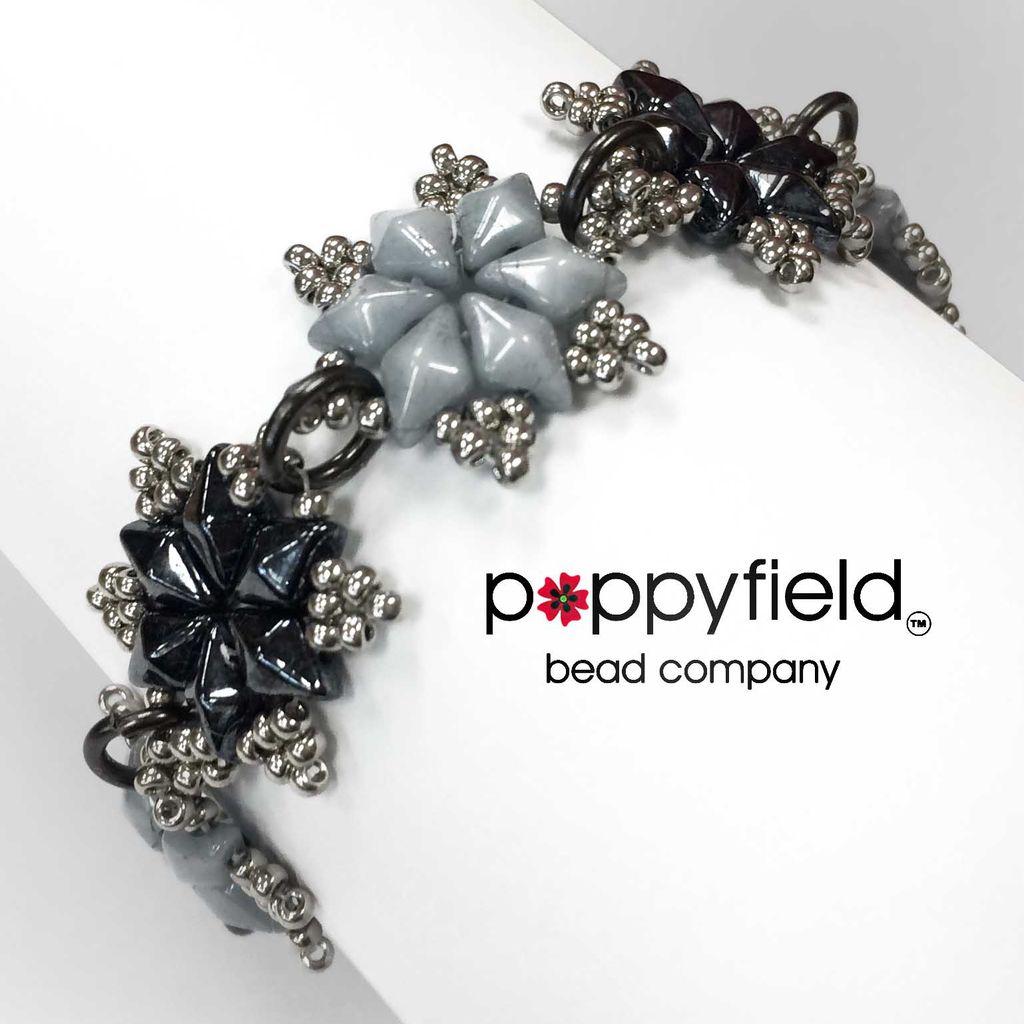 Local Crystal Cascade Snowflake Bracelet, Bead Bundle & PDF Tutorial