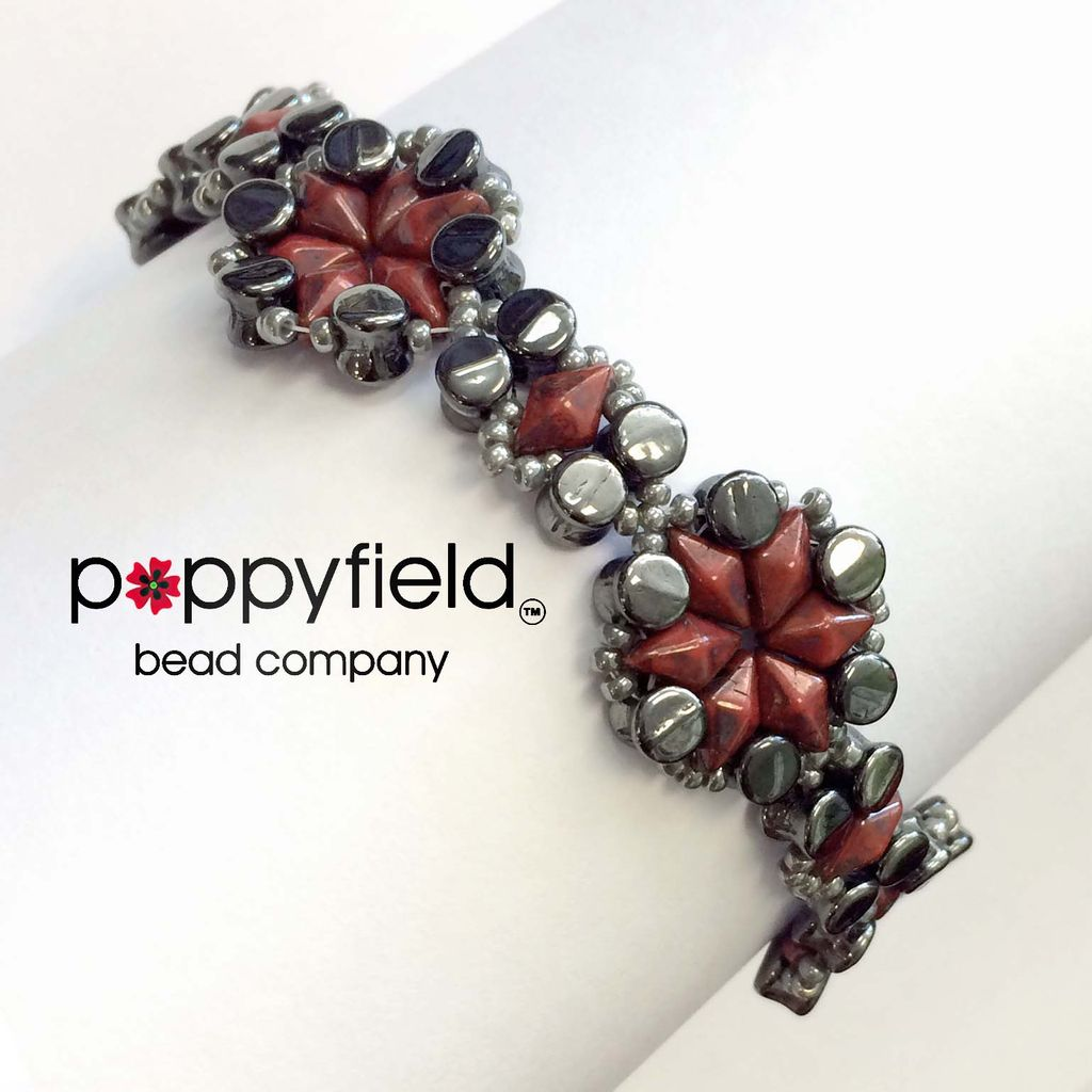 Local DiamonDuo Pellet Bracelet by Ruzena Mikulová, Bead Bundle & PDF Tutorial
