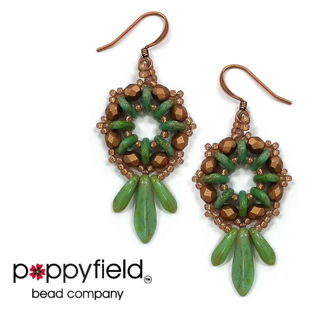 Local Heirloom Earrings by Svetlana Einy, Bead Bundle & PDF Tutorial