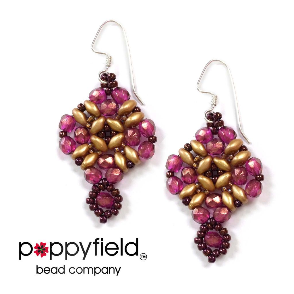 Local Holiday Balcony Earrings by BeadsMagic.com, Bead Bundle & PDF Tutorial