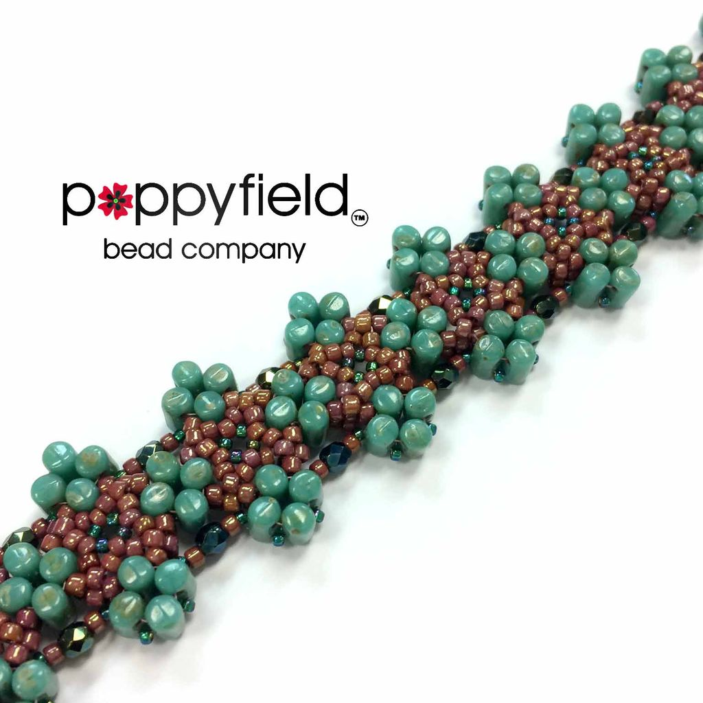 Local Leda Bracelet by Nela Kábelová, Bead Bundle & PDF Tutorial