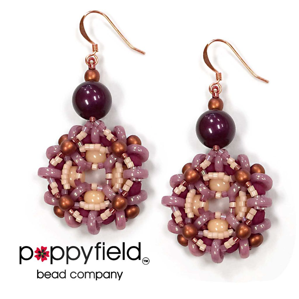 Local Romantic Earrings by Apollinariya Koprivnik, Bead Bundle & PDF Tutorial