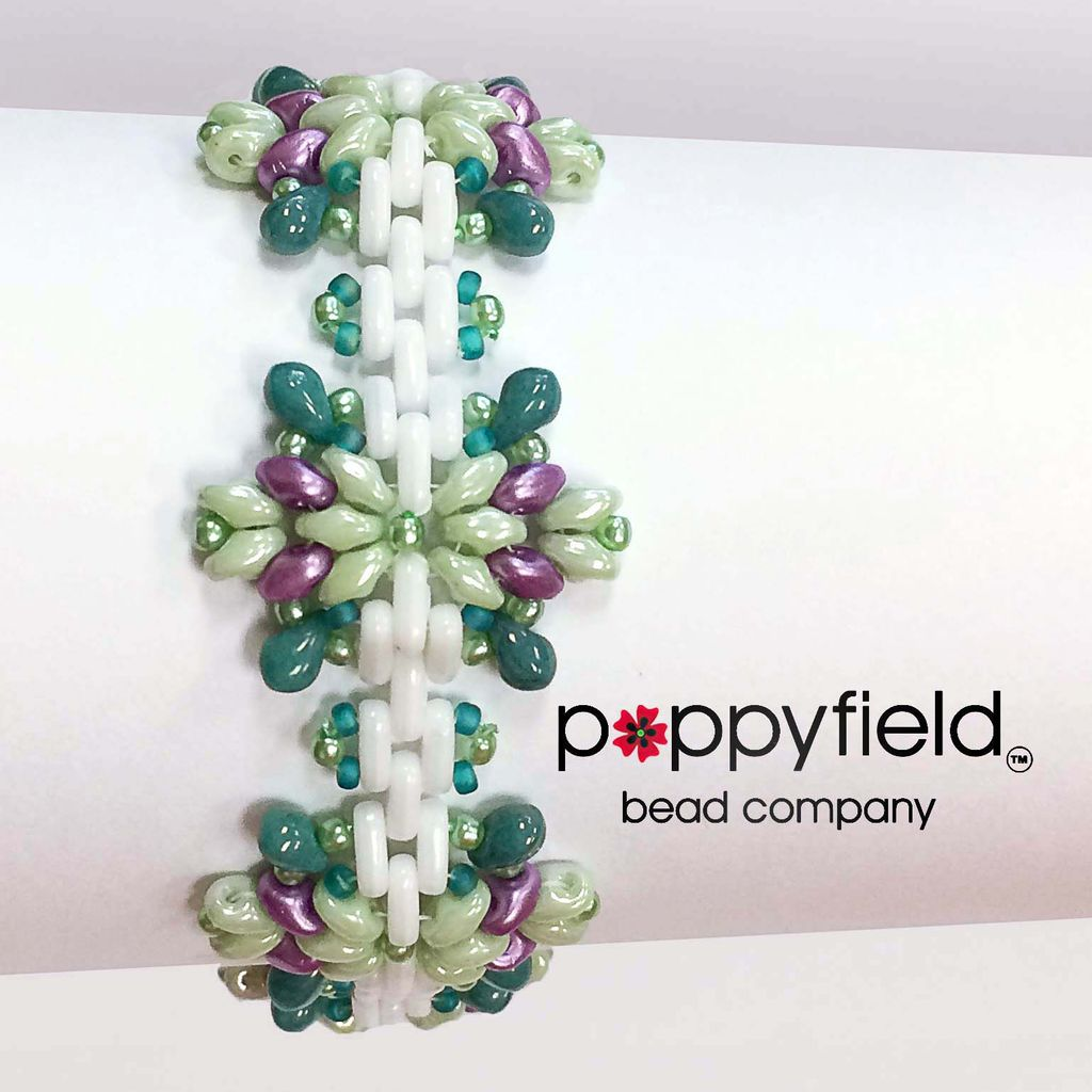Local Fair Isle Bracelet by Stefanie Deddo-Evans, Bead Bundle & PDF Tutorial