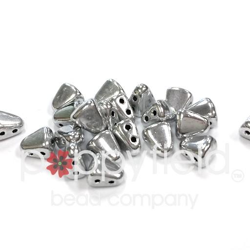 Czech NIB-BIT 2-Hole Beads, 6x5 mm, Full Labrador, 10g Tube