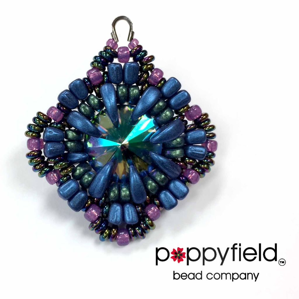 Local Pauline Pendant by Carole Ohl, Bead Bundle & PDF Tutorial