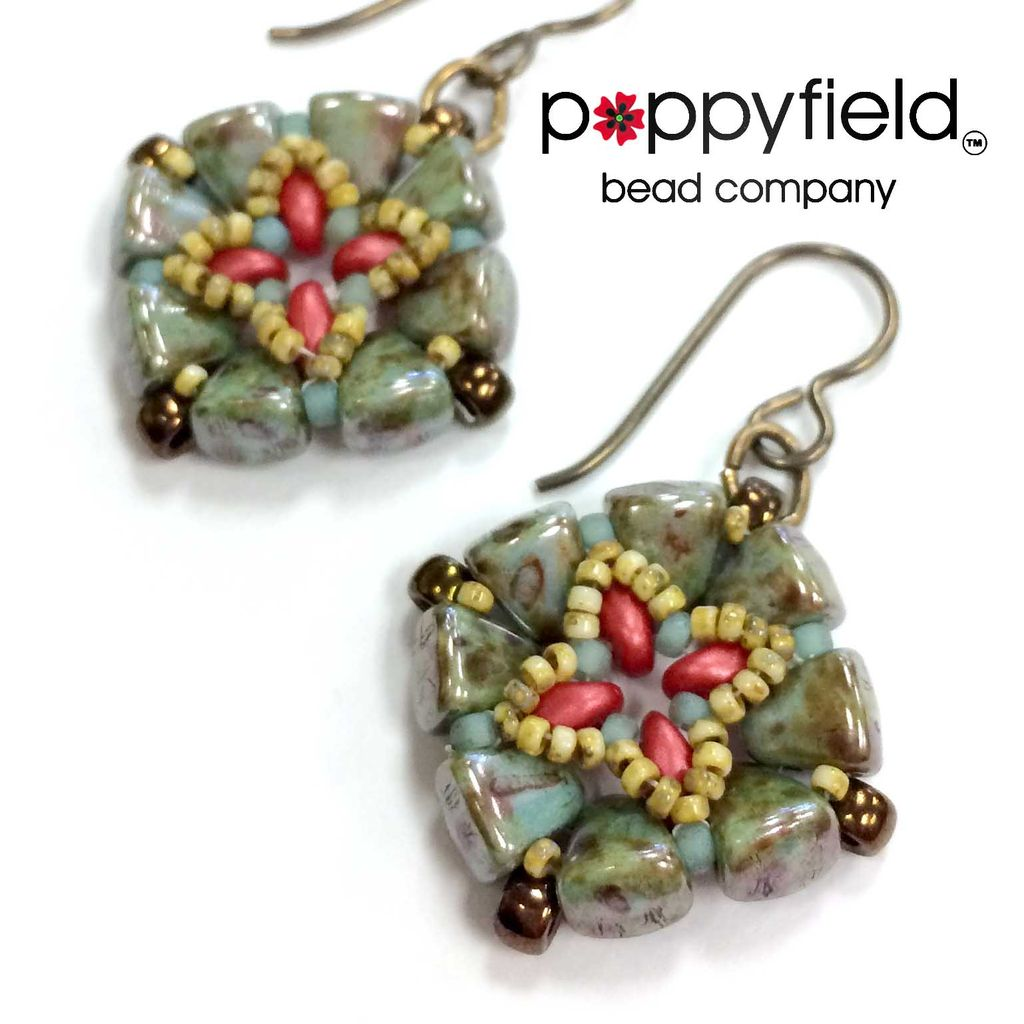 Local Timbuktu Earrings by Nela Kábelová, Bead Bundle & PDF Tutorial