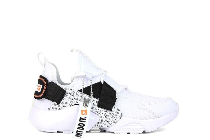 hot sale online cae03 b8950 Nike NIKE W AIR HUARACHE CITY LOW PRM JUST DO IT WHITE ...