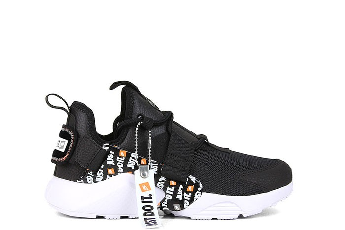 newest bb66e 86fd0 Nike NIKE W AIR HUARACHE CITY LOW PRM JUST DO IT BLACK ...
