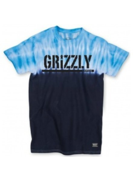 GRIZZLY Grizzly Fire Tie-Dye Pocket Tee