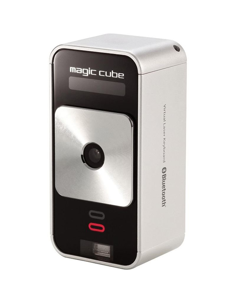 Celluon Ex-Demo - Celluon Magic Cube - ultra-portable, full-sized projection keyboard - Silver (used)