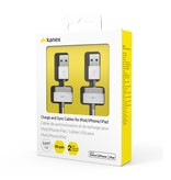 Kanex Kanex USB Charge and Sync Cables 30pin 3ft - 2 Pack - White