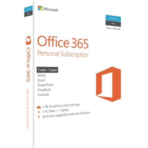 Microsoft Microsoft Office 365 Personal - 1 License - 1 Mac and 1 iPad- 1 year