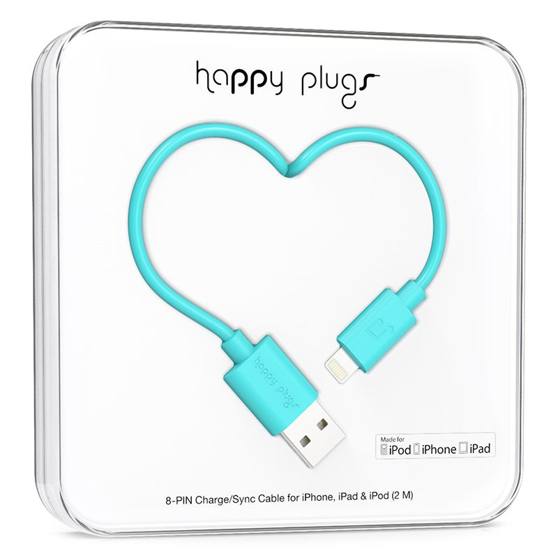 Happy Plugs Happy Plugs Lightning to USB Turquiose