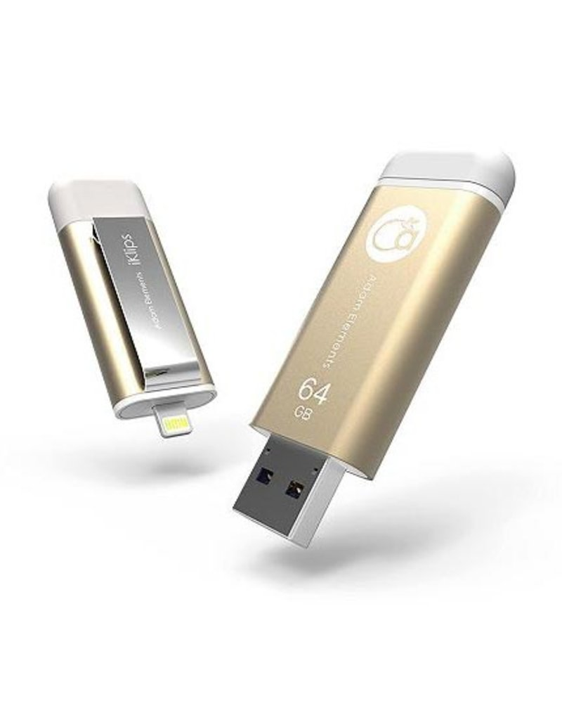 Adam Elements Adam Elements iKlips Lightning Flash Drive 64GB - Gold