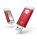 Adam Elements Adam Elements iKlips Lightning Flash Drive 128GB - Red