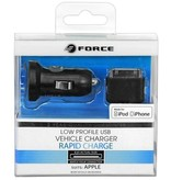 Force Force Low Profile Vehicle Charger - iPhone, iPod - Black