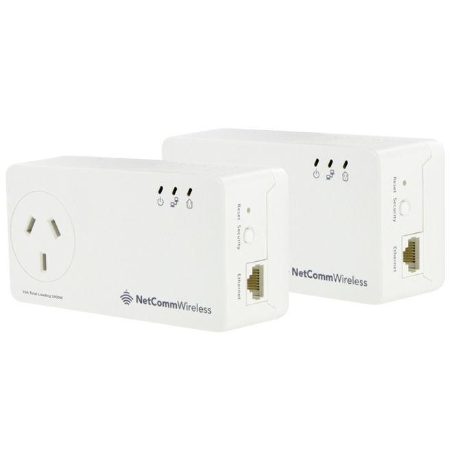 Netcomm Netcomm Powerline 500Mbps AC Pass-through Twin Pack