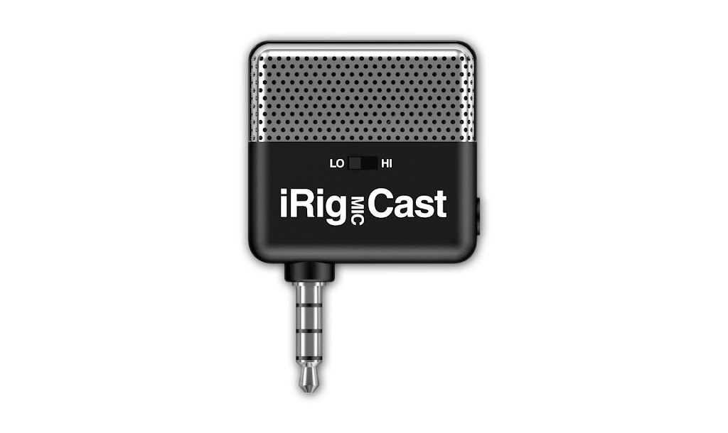 IK Multimedia iRig Mic Cast - Ultra-compact microphone for iPhone/iPod Touch/iPad with adjustable desktop stand