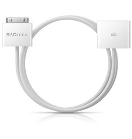 Radtech Radtech - ProCable 30pin Dock Extension Cable v2 - 120cm White