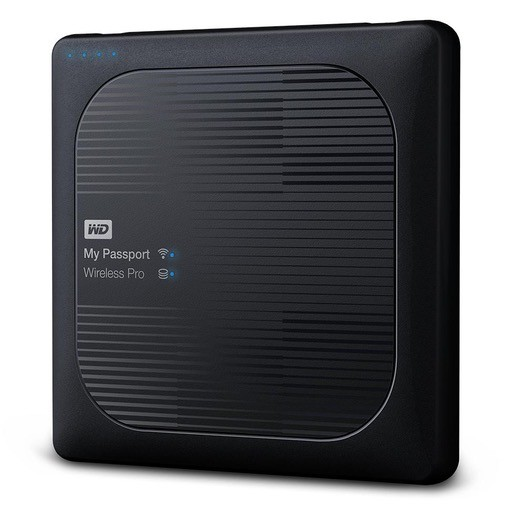 Western Digital WD My Passport Wireless Pro 2TB Wi-Fi mobile storage, USB3.0, Wireless AC, SD Card slot, PowerBank - Black