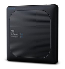 Western Digital WD My Passport Wireless Pro 3TB Wi-Fi mobile storage, USB3.0, Wireless AC, SD Card slot, PowerBank - Black