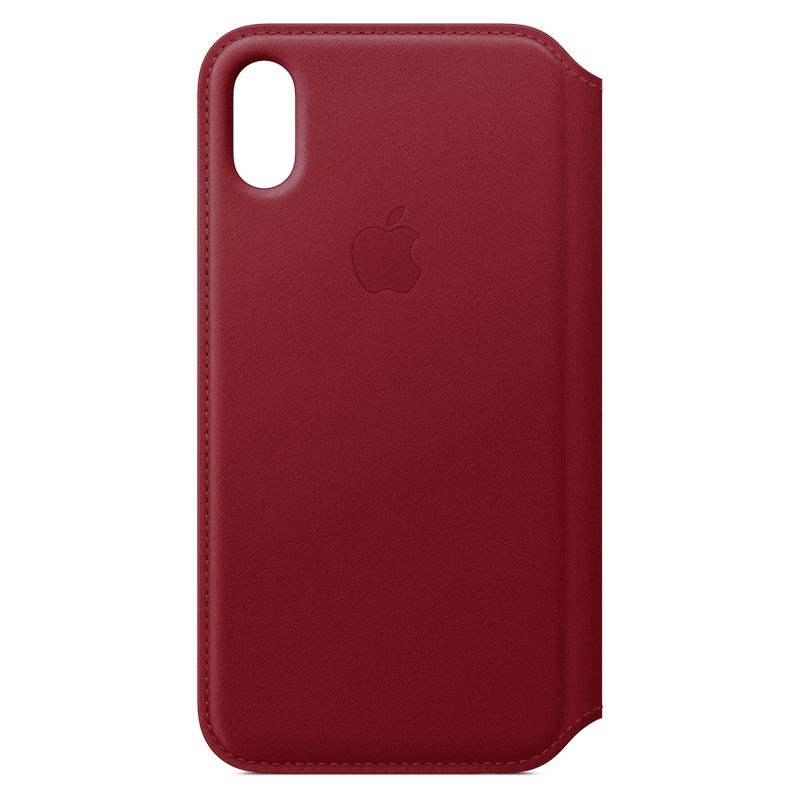 Apple iPhone X Leather Folio (PRODUCT) RED