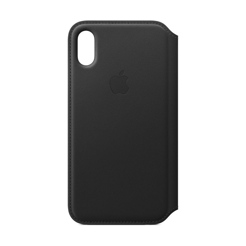 Apple iPhone X Leather Folio Black