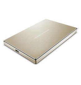 Lacie Lacie 2TB Porsche Design USB-C 3.0 (inc. USB adapter) Portable Hard Drive - Gold