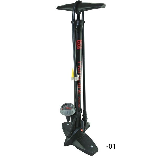 Lambert EVO HURRICANE FLOOR PUMP WITH GAUGE BLACK