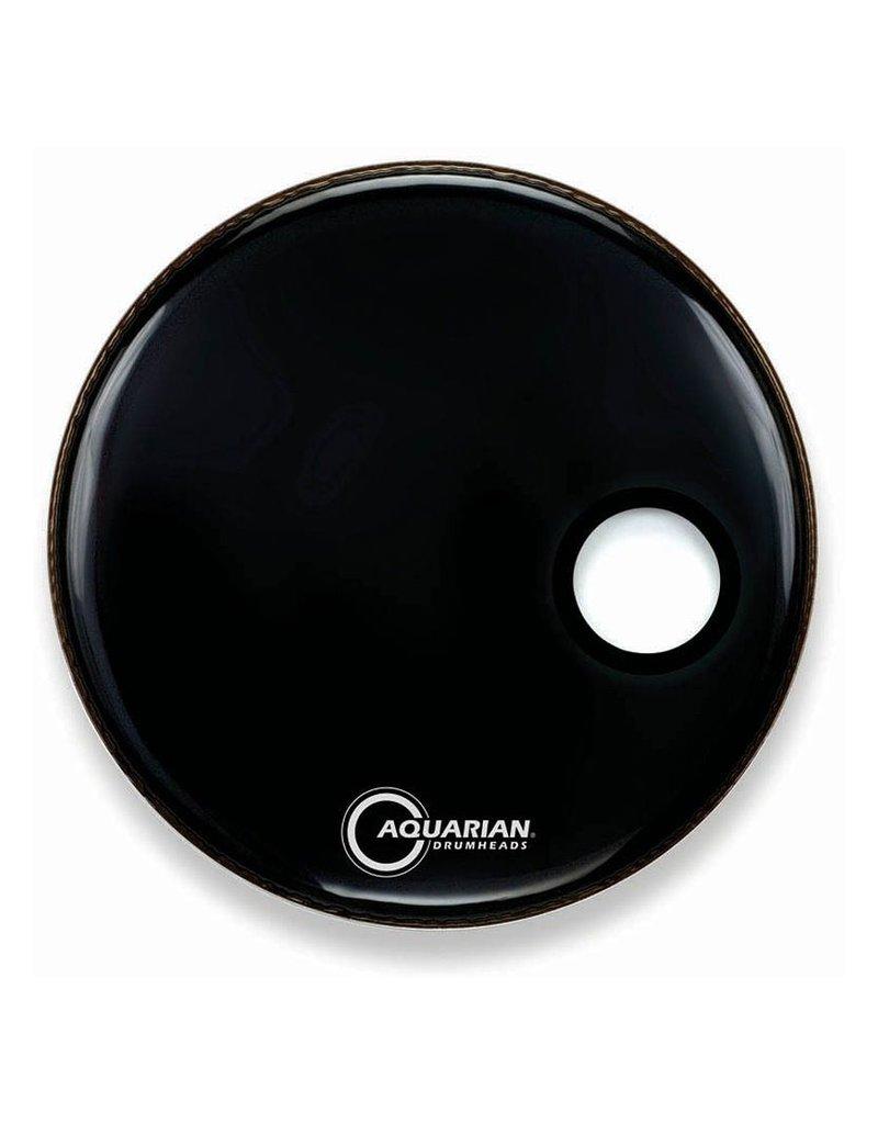 """Aquarian 20"""" Regulator Black Resonant/Front Kick Drumhead"""