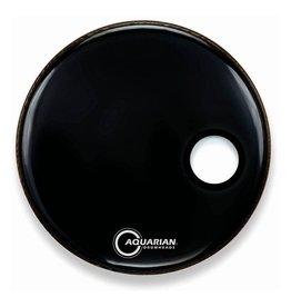 """Aquarian 24 """"Regulator Black Resonant/Front Kick Drumhead"""