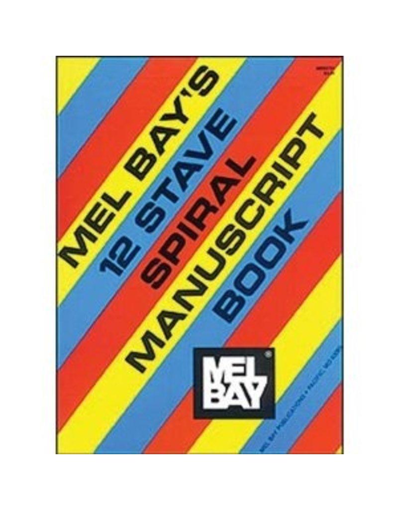 Mel Bay 12-Stave Spiral Manuscript Book-Staff Paper