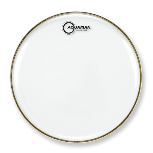 """AQUARIAN 13"""" Classic Clear Single Ply Snare Side Drumhead"""