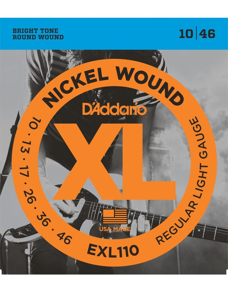D'Addario EXL110 Nickel Electric Guitar Strings - Light