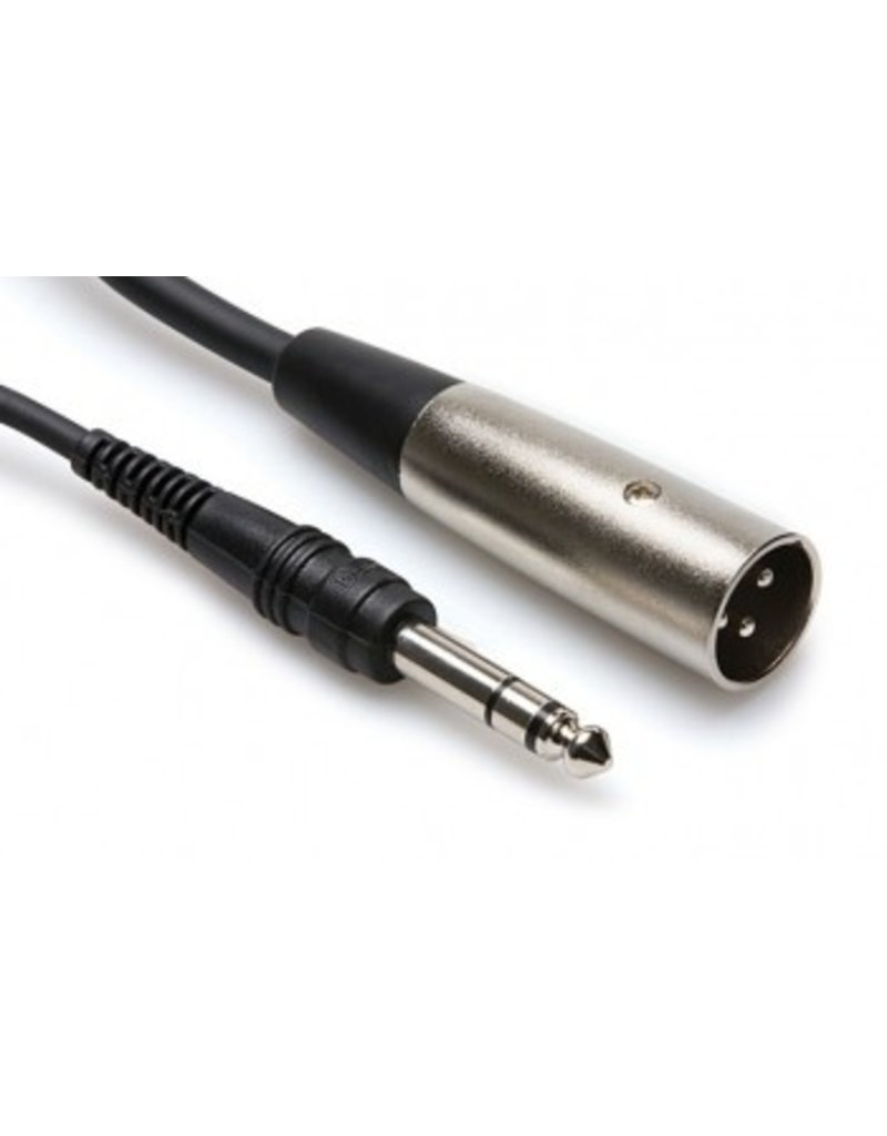 "Hosa Balanced Cable 1/4"" TRS to XLR3M"