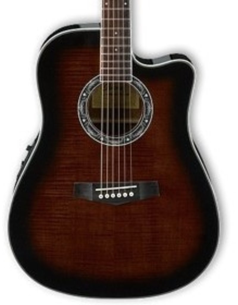 Ibanez Ibanez PF28ECE Acoustic-Electric Guitar-Dark Violin Sunburst