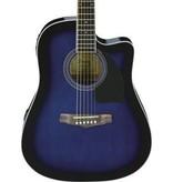 Ibanez Ibanez Preformance Series PF15ECE Acoustic-Electric Guitar-Transparent Blue Sunburst