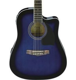 Ibanez Ibanez Preformance Series PF15ECE Acoustic-Electric Guitar-Transparent Blue Sunburst