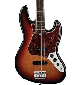 Fender Fender American Standard Jazz 4 String Electric Bass with Hardshell Case-3 Tone Sunburst