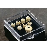 Fender Bridge Pin Set, Ivory with Black Dot (7)