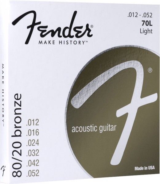 Fender .012-.052 Light Guage 80/20 Bronze