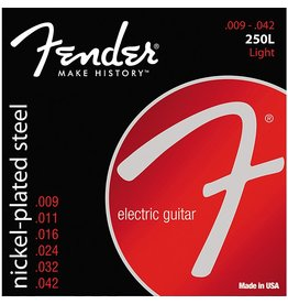 Fender .009-.042 Light Guage Electric Guitar Strings, Nickel-Plated Steel