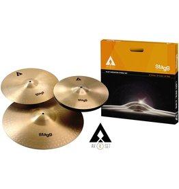 "STAGG AXK Cymbal Set-14"" Hi-Hats, 16"" Crash, 20"" Ride"