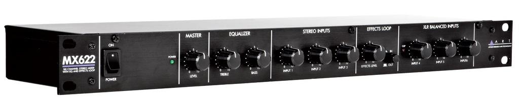 ART MX622 Six Channel Stereo Mixer with EQ and Effects Loop