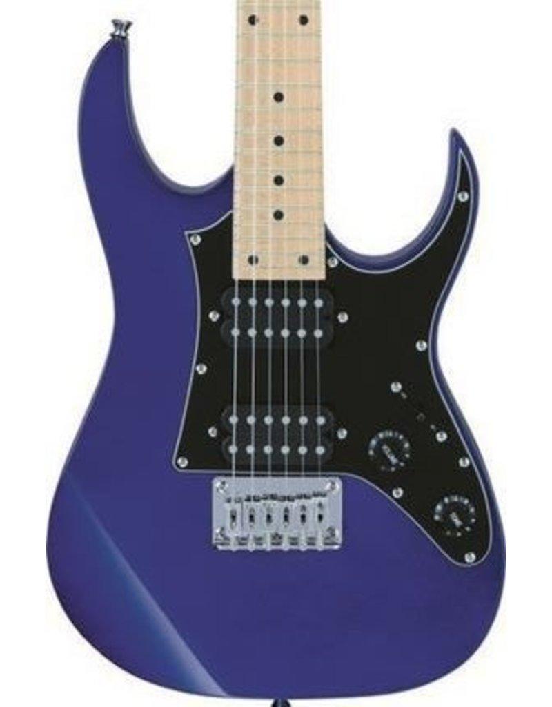 Ibanez Mikro 3/4 Size Electric Guitar GRGM21MJB w/Gig Bag-Jewel Blue
