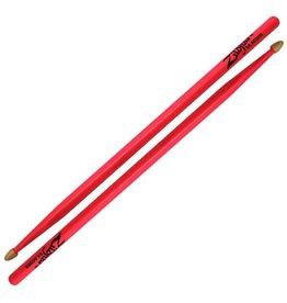 Zildjian Zildjian 5A Hickory Acorn Tip Drumsticks-Neon Pink